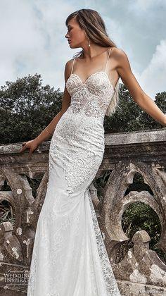 solo merav 2017 bridal spagetti strap sweetheart neckline heavily embellished bodice elegant sexy sheath trumpet wedding dress sweep train (paula) zv -- Solo Merav 2017 Wedding Dresses