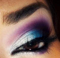 Seductive Purple and Blue w/ White