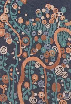 Textile design by Gustav Klimt (1862–1918), ca. 1920, Wiener Werkstätte.