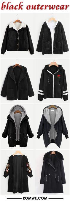black outerwear from romwe.com