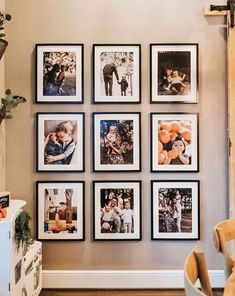 Family Photo Wall Ideas To Bring Your Photos To Life Home Decor Do you wish you could have a whole room full of pictures on the wall, ready to be moved and admired? It's easy to see why some people would desire suc. Cheap Beach Decor, Cheap Home Decor, Family Wall Decor, Living Room Decor, Family Pictures On Wall, Bedroom Pictures, Bookcase With Glass Doors, Cute Home Decor, Hallway Decorating