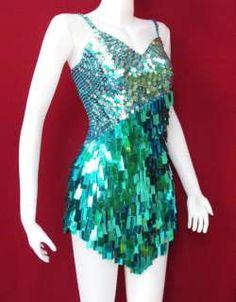 drag queen costume | Party Latin Dance Drag Queen Costume Sequin Dress S M
