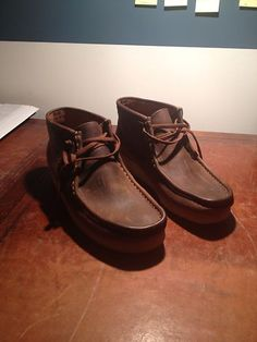 eBay: Men's Clarks Wallabee size 9 (US) for sale. Brown Leather