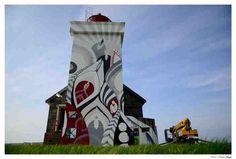 LUCY MCLAUCHLAN AT OBRESTAD FYR lighthouse