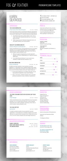 CV Template, Resume Template, Cover Letter, References, Modern - resume reference template