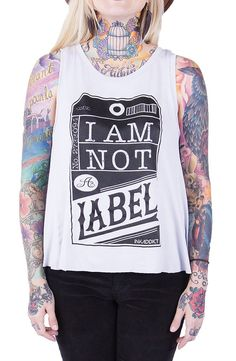 Ink Addict Not A Label Women's SIlver Flap Back Tank - Ink Addict - Brands  Use the code ROCKSTARSTYLE15 for 15% OFF!