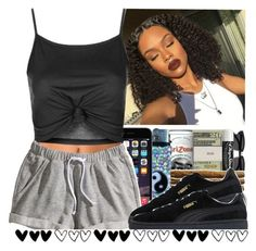"""She"" by queen-vanessa ❤ liked on Polyvore featuring NLY Accessories, Topshop, H&M and Puma"