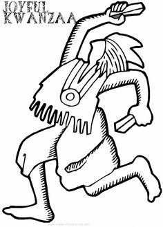 kwanzaa coloring page dancing lady
