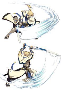 Fuchs Illustration, Guilty Gear, Action Poses, Anime Manga, Sword, John Wick, Drawings, Fictional Characters, Swords