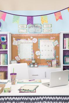 Looking for classroom decor inspiration? Look no further! office spaces, craft room