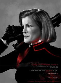 Vice Admiral Kathryn Janeway of the USS Voyager