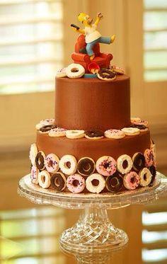 Cake simpson rosquillas