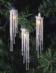 Set of 10 Ice Palace Silver Dangling Beaded Icicle Christmas Lights - Green Wire Indoor Christmas Lights, Christmas Lights Outside, Outdoor Christmas Decorations, Holiday Lights, Christmas Crafts, Christmas Tree, Christmas Goodies, Xmas, Christmas Ideas