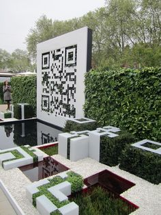 The QR Code Garden at Tatton Park
