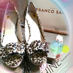 Leopard Print *NEW* So gorgeous. Guarantee to get compliments! Has peep toe. Made by famous Frano Sarto, designer known for comfort as well as quality! Ask about Free Shipping! Franco Sarto Shoes Heels