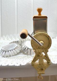 Almond Nut grinder vintage Swedish farmhouse kitchen utensil
