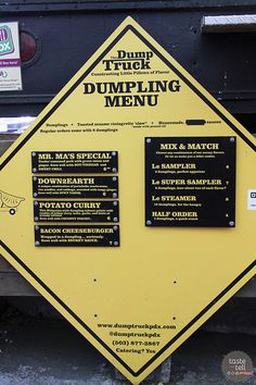 Taste and Tell's Guide to Where to eat in Portland, OR - The Dump Truck. Sw alder TS 10-11th. Food trucks