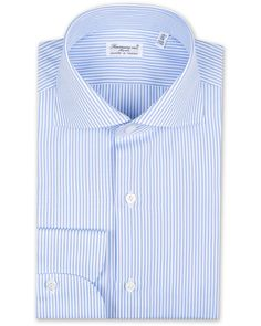Finamore Napoli Milano Slim Fit Classic Shirt Blue osoitteesta Ca