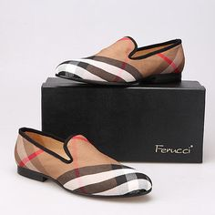 7748a17dc888 Men ferucci burberry slippers loafers