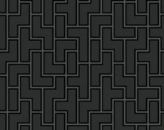 Sample of Modern Graphic Wallpaper in Metallic and Black design by BD Wall