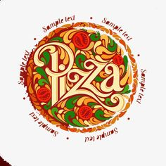 Pizza logo design PNG and Clipart Italian Restaurant Decor, Art Restaurant, Restaurant Design, Food Logo Design, Logo Food, Branding Design, Pizza Logo, Pizza Shack, Pizza Box Design