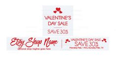 Etsy Valentine Banner Set - Etsy Sale Banner With Shop Icon - Valentine's Day Etsy Banner - Sale Banner 3
