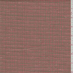 Salmon and taupe plaid. This soft, light/medium weight linen fabric has slubs.Compare to $30.00/yd