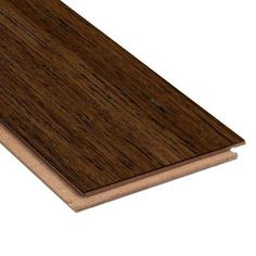 Home Legend Brushed Strand Woven Gunstock 3/8 in. Thick x 5 in. Wide x 36 in. Length Click Lock Bamboo Flooring (25 sq. ft. / case)-HL265H - The Home Depot
