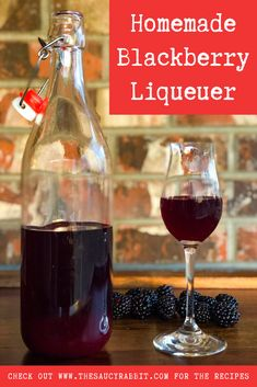 Making Homemade Blackberry Liqueur is a great way to up your cocktail game and is incredibly simple, way cheaper than buying a bottle at the store, and will taste like summer no matter the time of year! Flavored Alcohol, Homemade Alcohol, Homemade Liquor, Alcohol Drink Recipes, Homemade Liqueur Recipes, Homemade Kahlua, Blackberry Brandy Recipes, Blackberry Drinks, Schnapps Recipe