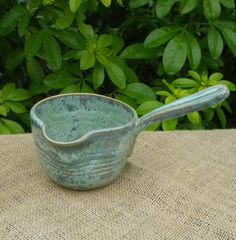 Pouring bowl sauce jug gravy boat hand thrown in stoneware