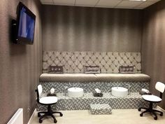 Beautiful pedicure room