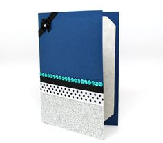 Navy Blue Card All Occasions Card Handmade by AmeliaRyCreations