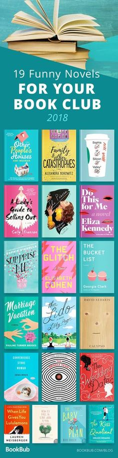 This reading list is perfect for book clubs that want to laugh together. The stories in these novels are hilarious, awesome, and fun! Informations About 19 Laugh-Out-Loud Reads for Your Book Club Pin I Love Books, New Books, Good Books, Books To Read, Book Suggestions, Book Recommendations, Reading Lists, Book Lists, Reading Books