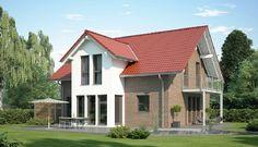 Einfamilienhaus mit Klinker Fassade und Satteldach - Haus Evolution 154 V2 Bien Zenker Fertighaus Architektur - HausbauDirekt.de