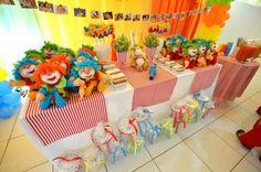 mesa lembrancinha festa circo