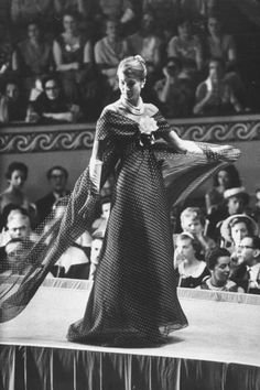 French model in Dior fashion show 1959