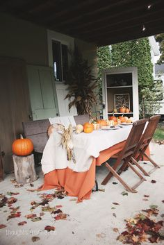 Peonies and Orange Blossoms: Stylish Pumpkin Table Settings