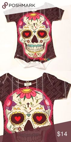 7cd9a6490fb Mexican Sugar Skull Onesie Baby Day of the Dead Boutique