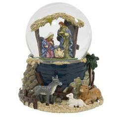 "Nativity Snow Globes | ... Adler 100MM Musical Nativity Waterglobe, ""Silent Night."" - Snow Globes"