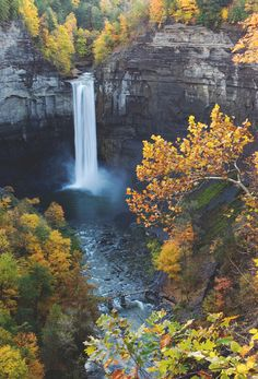 taughannock falls, new york #waterfalls #nature #autumn