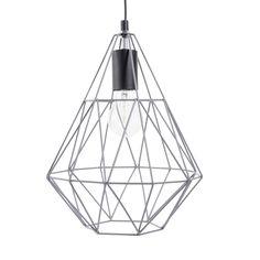 Lámpara de techo de metal gris Al. 32cm TRENDY GREY