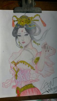 Gueixa em progresso Tattoo 2015, Princess Zelda, Anime, Fictional Characters, Art, Geisha, Art Background, Kunst, Gcse Art