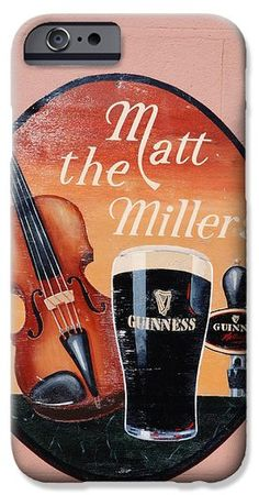 Matt the Millers Pub in Kilkenny Ireland iPhone Case by Charlie and Norma Brock #iphone6  #Ireland #Guinness #texaseagle