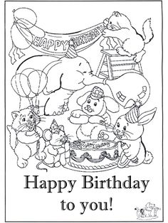 Print Out One Of These Birthday Card Coloring Pages To Color And Happy Birthday Card Printable Coloring Pages