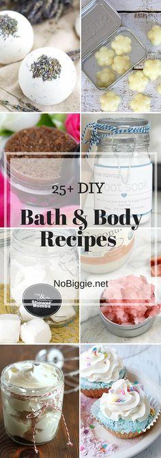 25+ Bath & Body Recipes | NoBiggie.net