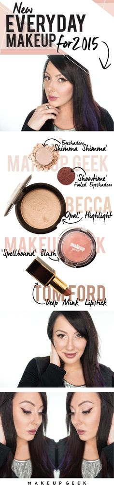 New everyday makeup routine for 2015 by Marlena featuring the Pantone color of the year, Marsala.