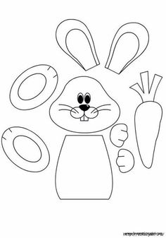 Easter Preschool Worksheets – Best Coloring Pages For Kids - Ostern Easter Projects, Easter Crafts For Kids, Craft Kids, Easter Ideas, Bunny Templates, Easter Bunny Template, Easter Colouring, Diy Ostern, Bunny Crafts