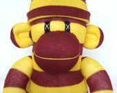 Gryffindor colours sock monkey mascot