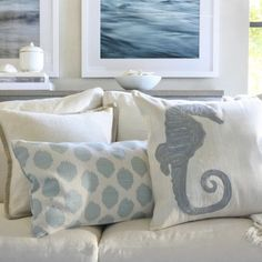 Seashore pillows by Williams-Sonoma #pavelife #home