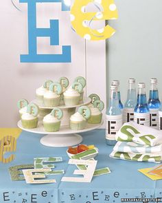 First Initial Birthday Party Theme